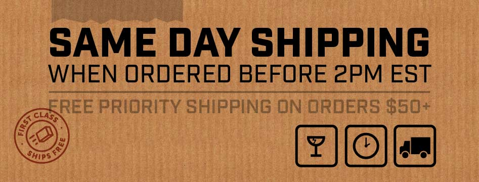 Same Day Shipping 2pm EST Weekdays