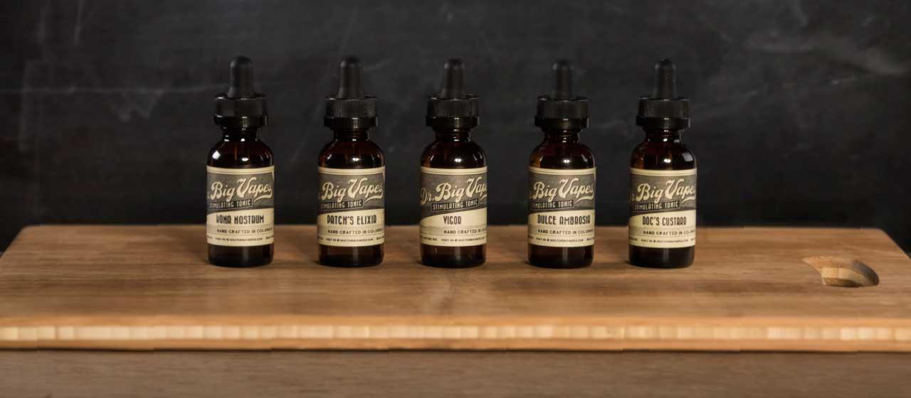 Bottles of Dr. Big Vapes