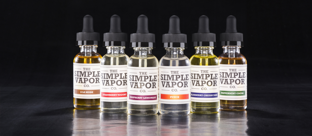 Bottles of The Simple Vapor Co.